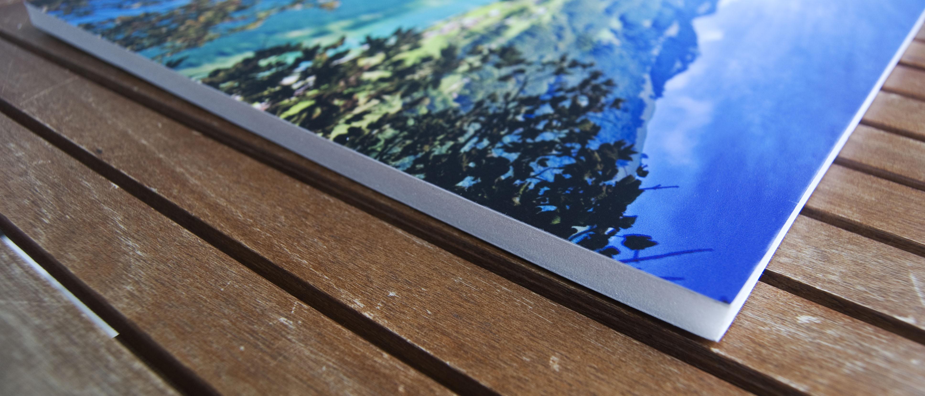Vista lateral de Fórex PVC impreso