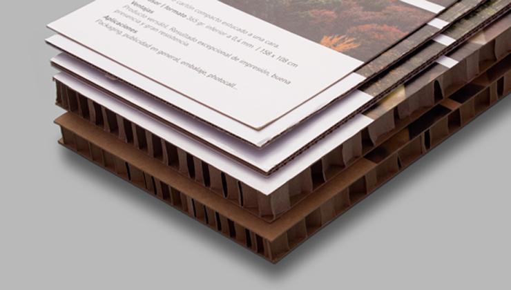Cartón impreso, diferentes grosores