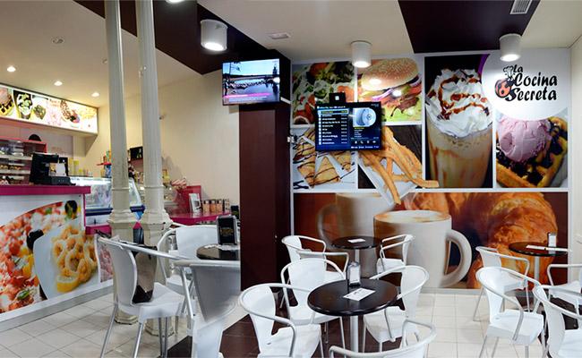 Rotulación interior gran formato para una cafetería